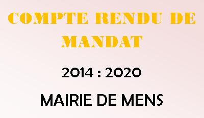 Compte rendu de mandat 2014 / 2020