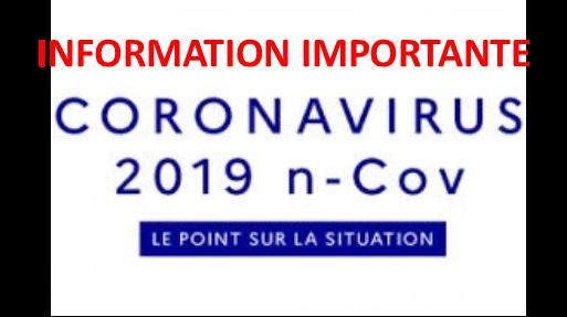 Information importante corona virus : Permanences médecins (nouveaux horaires)