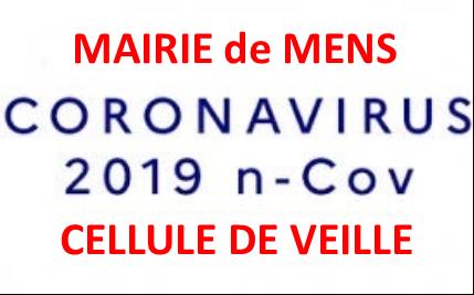 Mairie de Mens : cellule de veille Coronavirus